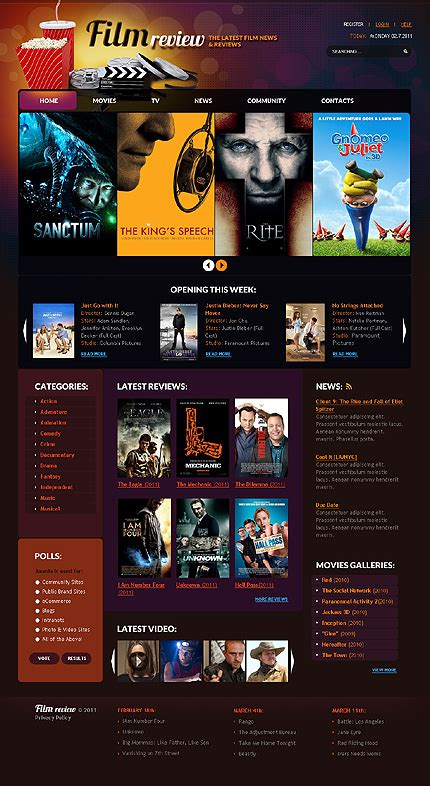 film online website excellent media website templates entheos