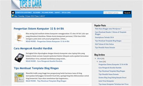cara membuat blog ringan tips membuat template blog ringan fast load tips cara