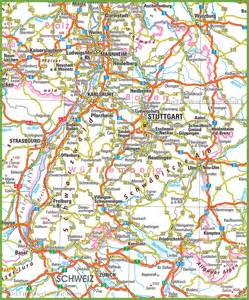 Baden Germany Map by Baden W 252 Rttemberg Road Map