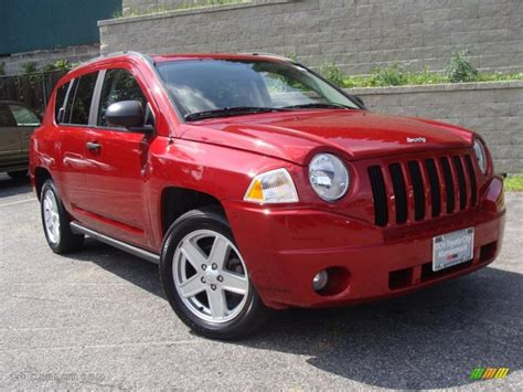 red jeep compass 2007 inferno red crystal pearlcoat jeep compass sport