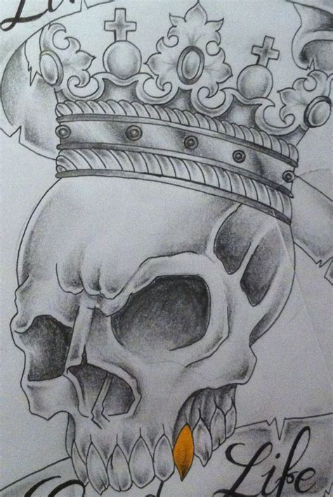 skull tattoo drawings crown tattoos designs ideas and meaning tattoos for you