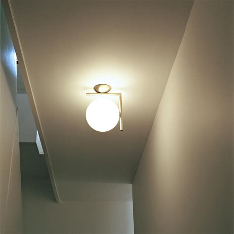 buy flos ic wall ceiling light brass amara