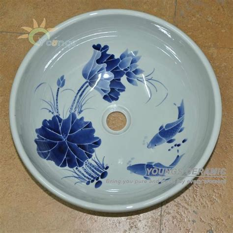 decorative sinks bathroom decorative oriental hand painted ceramic porcelain