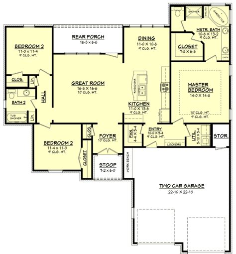 country open floor plans plan 11765hz large and open floor plan house plans