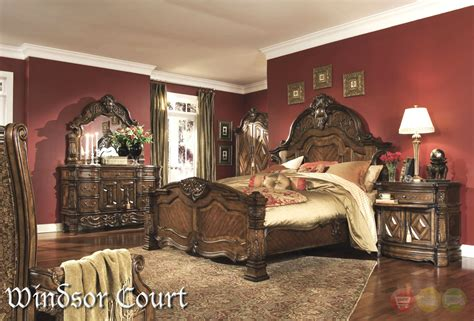 windsor court bedroom set michael amini windsor court vintage fruitwood finish
