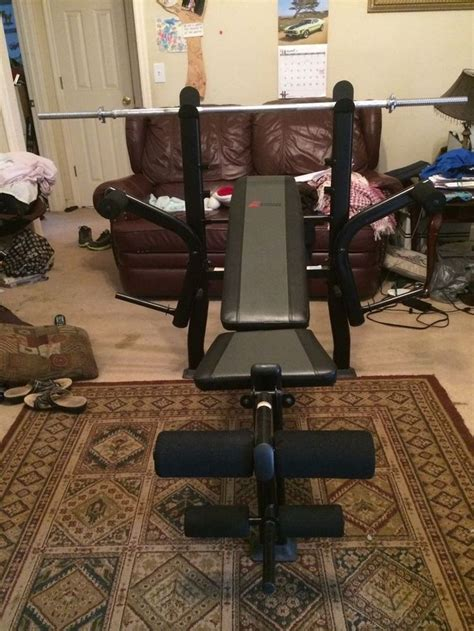 weight bench exertec fitness 350 lbs cap fm ex6230b w