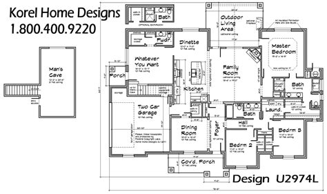 home blueprints house plan u2974l house plans 700 proven home designs by korel home
