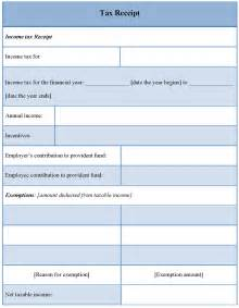 Tax Receipt Template Receipt Form Free Receipt Templates And Format 8ws