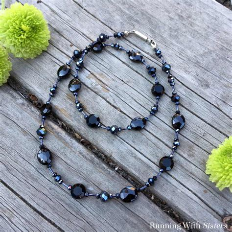 how to tie a beaded necklace black tie beaded necklace running with