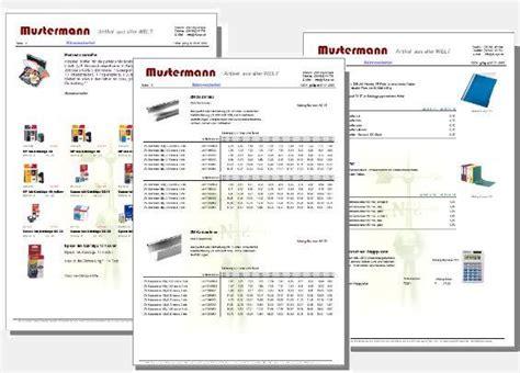 Design Pro Vorlage Erstellen Kl Katgen Der Katalog Und Preislistengenerator