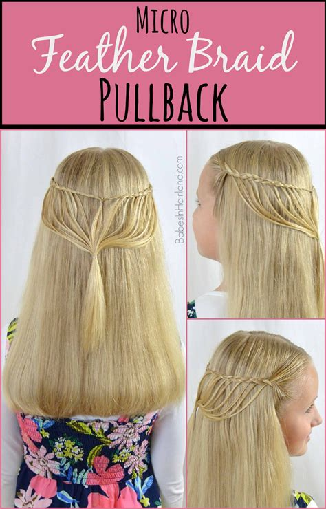 how to feather braid micro feather braid pullback book signing babes in
