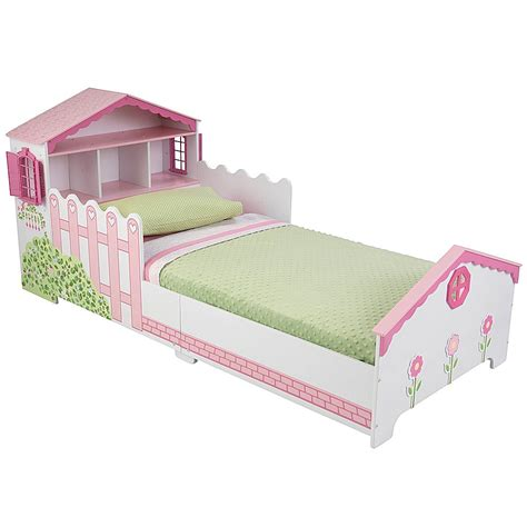 kidkraft dollhouse toddler bed amazon com kidkraft toddler dollhouse cottage bedding set