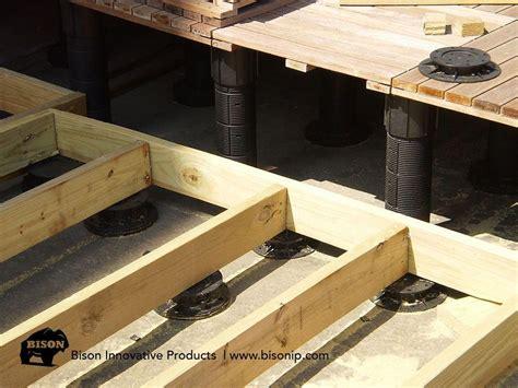bison adjustable deck supports   wood tiles