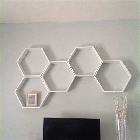 olive the things hexagon honeycomb shelves diy