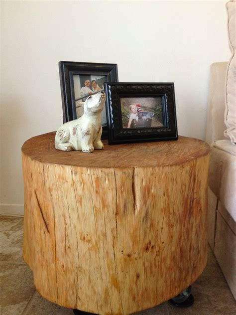wood stump side table how to a handmade tree stump side table