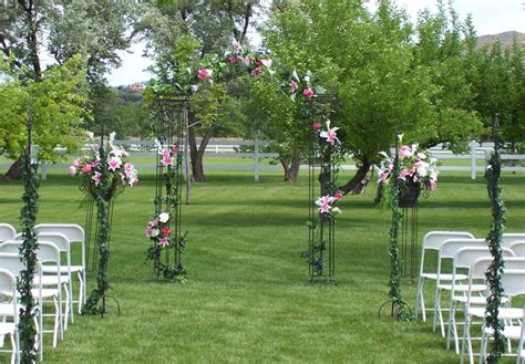 Outdoor Wedding Ceremony Decorations Romantic Decoration Simple Lights Ideas Outdoor