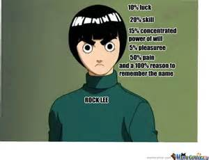 Remember The Name Meme - rock lee remember the name by recyclebin meme center