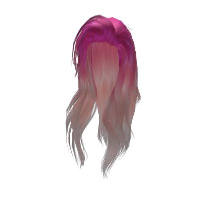 pretty long pink girl hair roblox