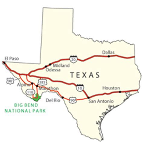 map of big bend texas directions transportation big bend national park u s national park service