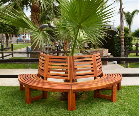 half tree bench half circle tree bench for garden seating forever redwood