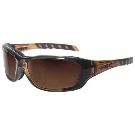 wiley x wx gravity glasses bronze flash lens brown