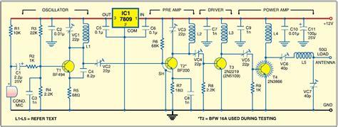 3 transistor fm transmitter schematic 1 watt fm transmitter project