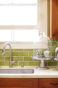 green subway tile kitchen backsplash photos hgtv