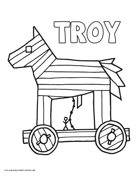 coloring page trojan horse lobster images clip art many interesting cliparts