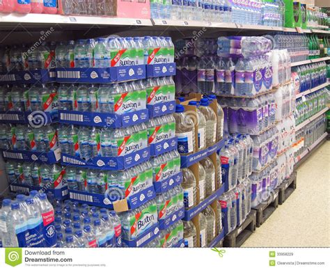 Water L For Sale bottled water for sale in a supermarket editorial stock image image 33958229