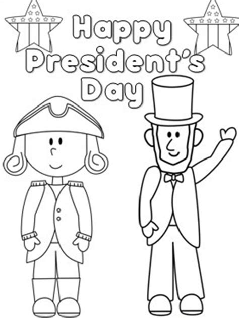 Presidents Day Coloring Pages Printable presidents day clipart black and white clipartsgram