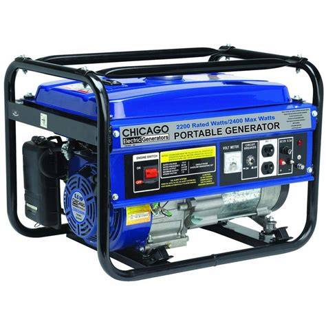 chicago 2400w peak 2200w running gas generator 98452