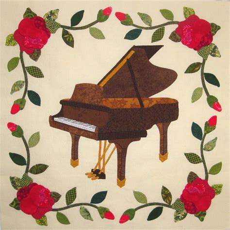 music themed quilt patterns fabric therapy online rose garden piano digital