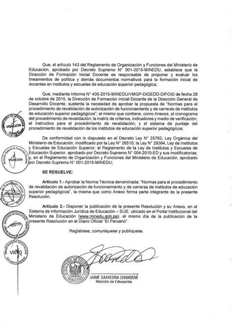 decreto supremo n 010 2015 minedu modifica el reglamento rm n 176 514 2015 minedu aprobar las normas t 233 cnicas