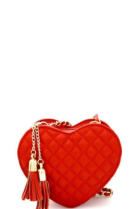 Lovie Tasel Set 2in1 ml1004p tassel accent quilted shape chain shoulder bag