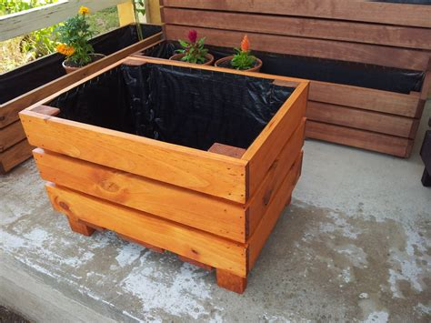 How To Build Large Planter Boxes by Large Planter Boxes Tree Planter Box Diy Planter Boxes