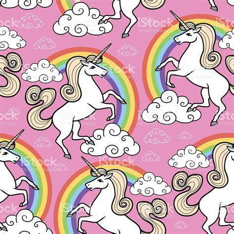 unicorn coloring book coloring gift a unicorn and delight featuring 30 majestic design pages to color patterns for stress relief majestic unicorn volume 1 books seamless pattern unicorn with rainbow and clouds