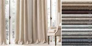 Textured Linen Drapes Drapery Collections Rh