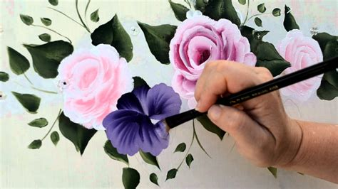 Make Purple Paint paint a purple pansy youtube