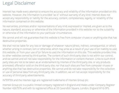 disclaimer template for training manual