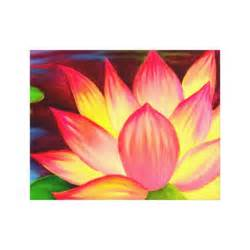 Lotus Flower Canvas Canvas Prints Lotus Flower Painting Zazzle