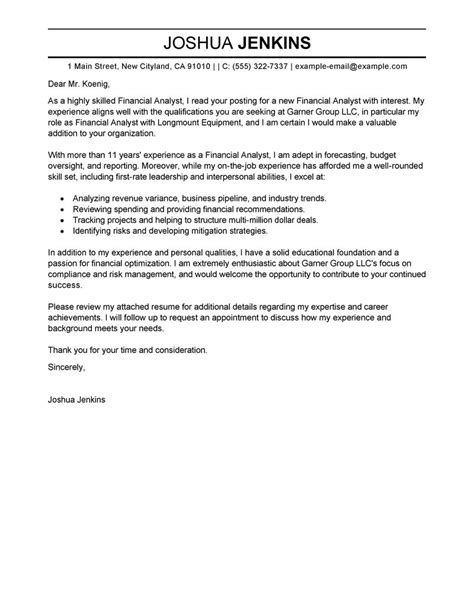 Cover Letter Business Format by Business Analyst Cover Letter Exles Business Sle Cover Letters Livecareer