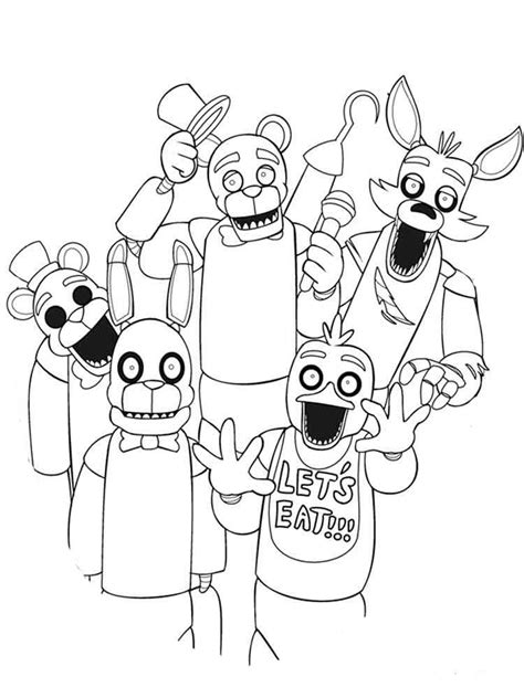 coloring coloring animatronics coloring pages to and print for free