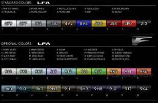 lexus lfa paint codes media archive clublexus lexus