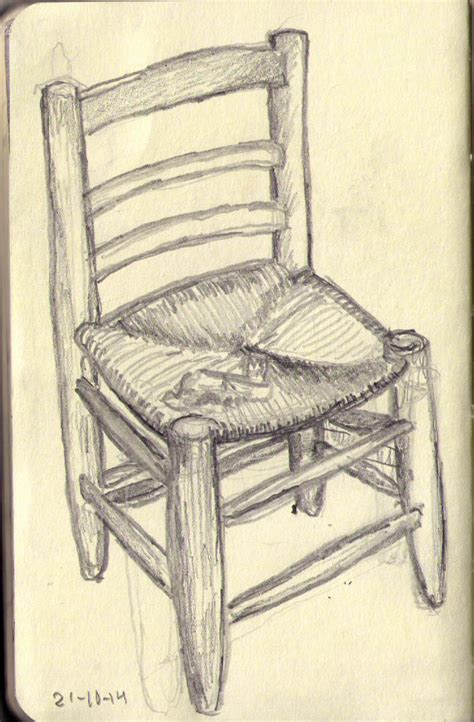 Chair Drawings by Vincent S Chair Drawing 90 Onedrawingdaily