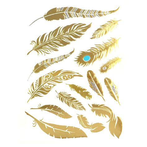 henna tattoo gold amazon gold silver black feather design metallic