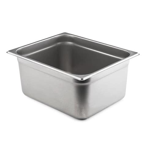 steam table pan 1 2 size standard weight anti jam stainless steel steam