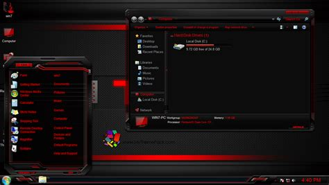 red themes for windows 8 1 tx4 red themepack for win7 8 8 1 skinpack customize