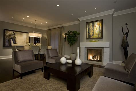 revere pewter for a transitional living room with a open floor plan and honore transitional