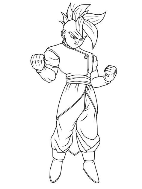 Easy Dragon Ball Z Coloring Coloring Pages Z Coloring Pages