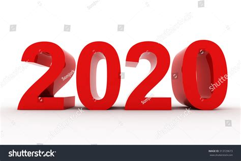 new year represents represents the new year 2020 three dimensional rendering